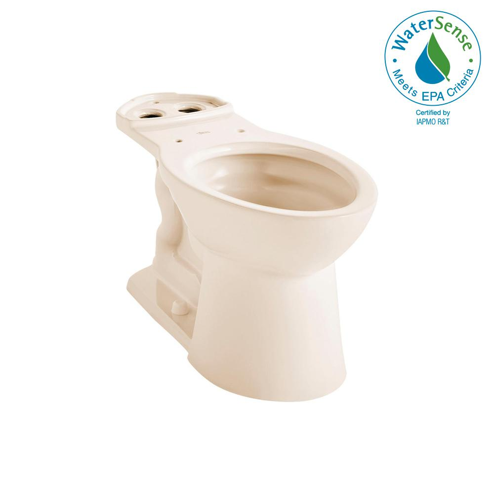 American Standard VorMax Elongated Toilet Bowl Only in Bone (Ivory ...