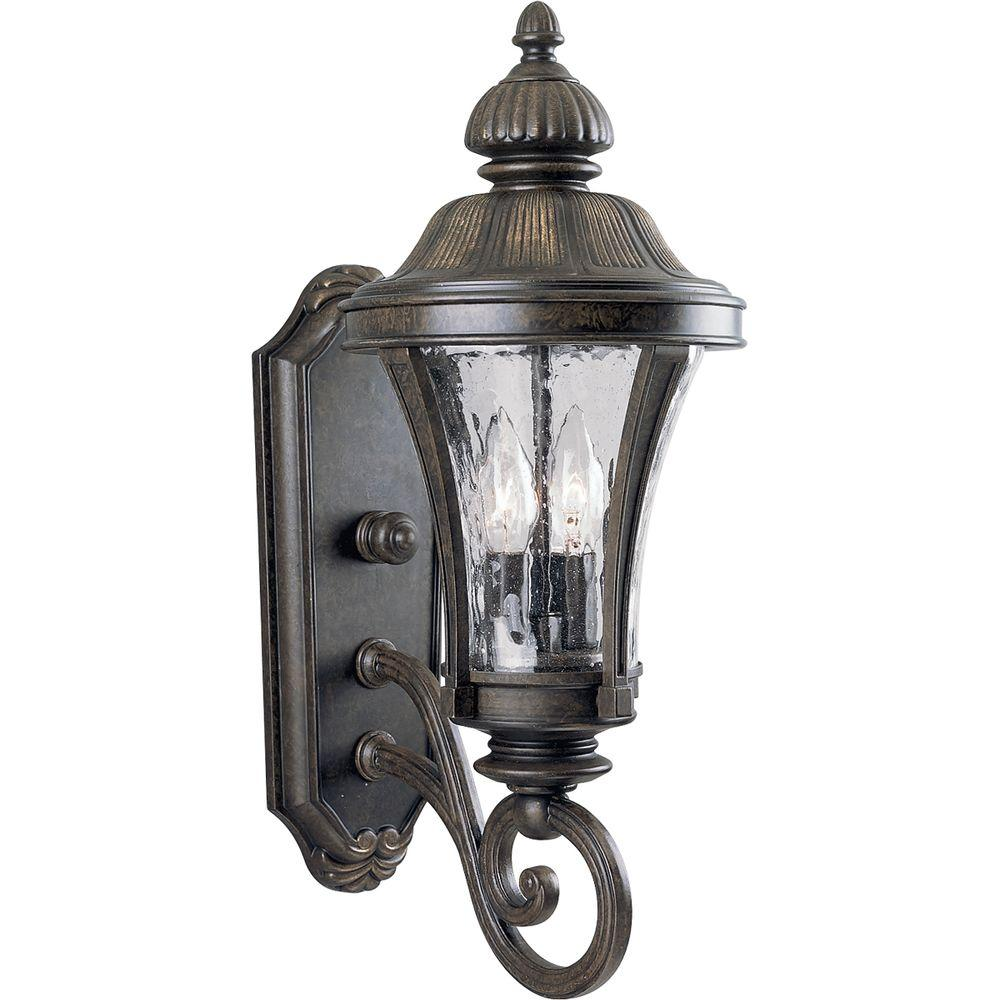 Nottington Collection 2-Light Outdoor Forged Bronze Wall Lantern