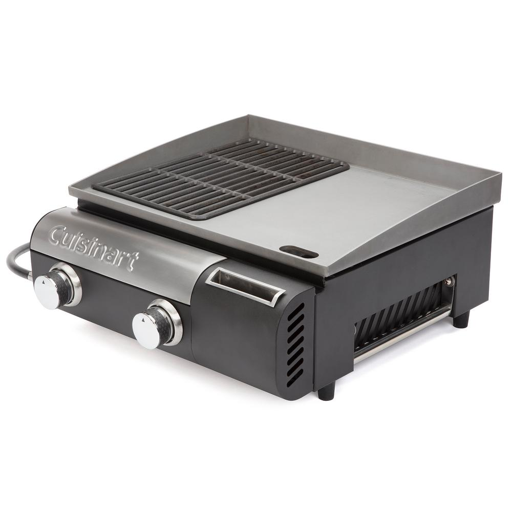 Cuisinart Gourmet Two Burner Gas Griddler in Black/Stainl...