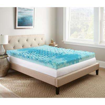4 in. Full Gellux Gel Memory Foam Mattress Topper