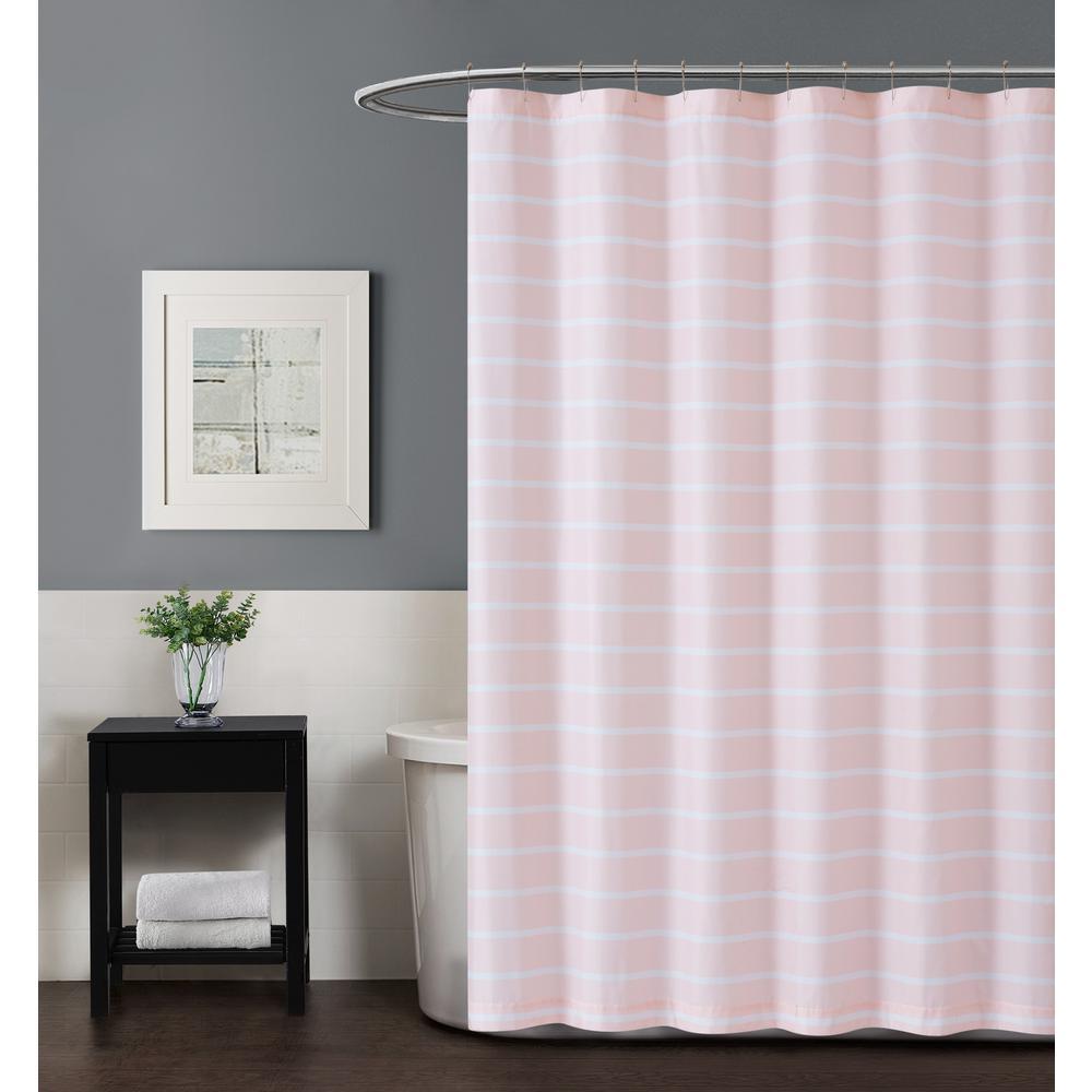 Maddow Stripe 72 in. Blush Shower Curtain