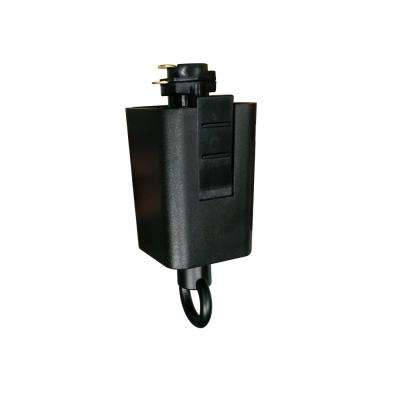 120-Volt 150-Watt Black Linear Track Pendant or Chandelier Adapter