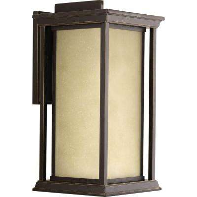 Endicott Collection 1-Light Large Antique Bronze 18 in. Outdoor Wall Lantern