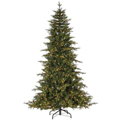 9 ft. Natural Cut Seville Pine Artificial Christmas Tree with 2000 Warm White LED Micro Lights