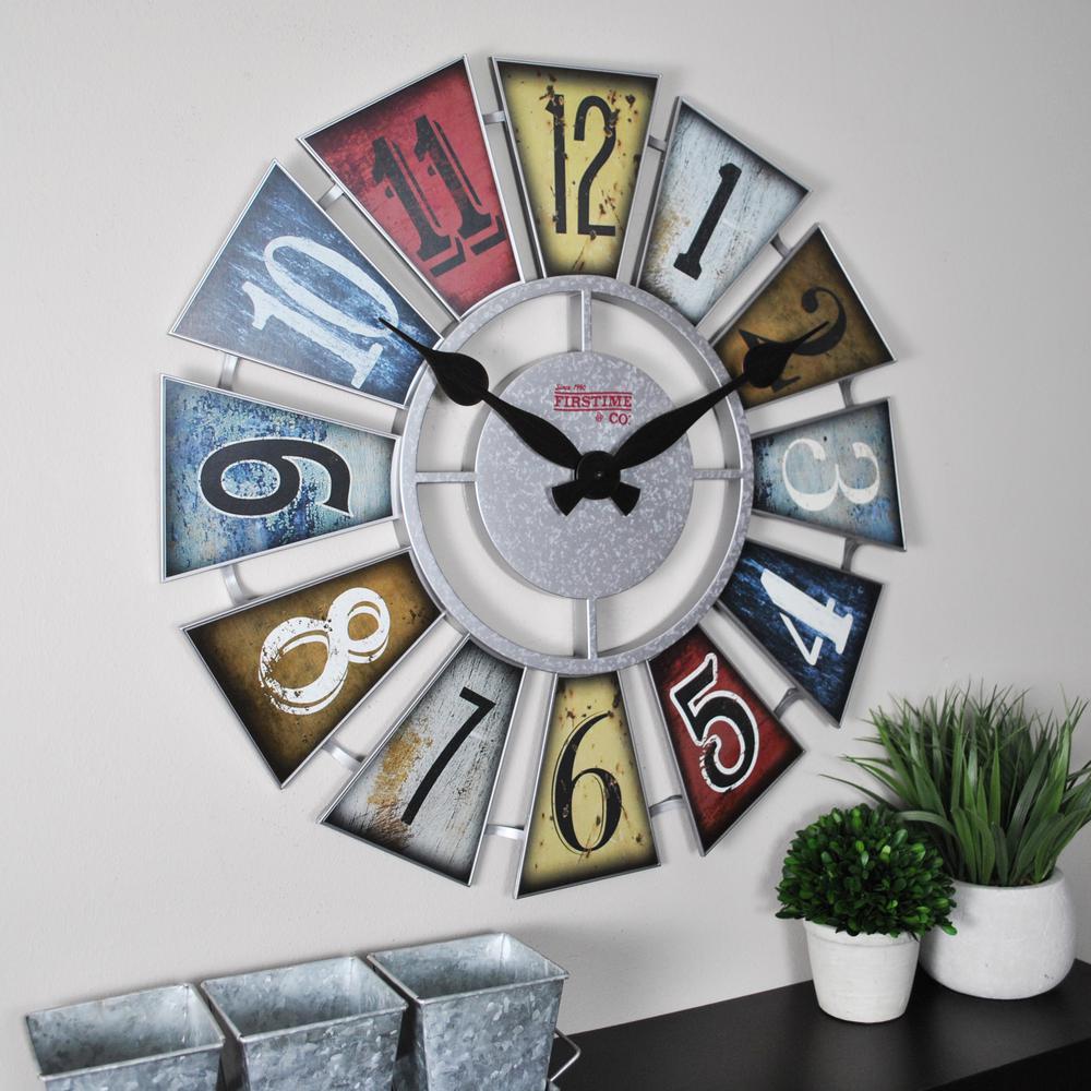 Numeral Windmill Wall Clock