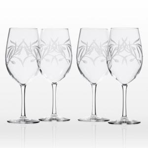 Olive Branch 18 oz. Clear All Purpose Wine Glass (Set of 4)