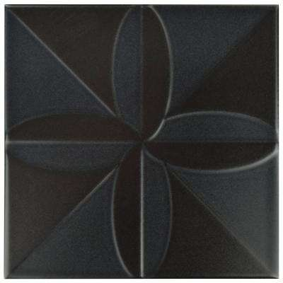 Triplex Fronteira Black 7-3/4 in. x 7-3/4 in. Ceramic Wall Tile (11 sq. ft. / case)
