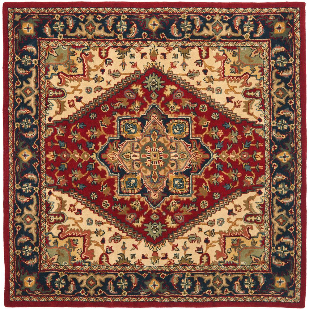 Heritage Red 4 ft. x 4 ft. Square Area Rug