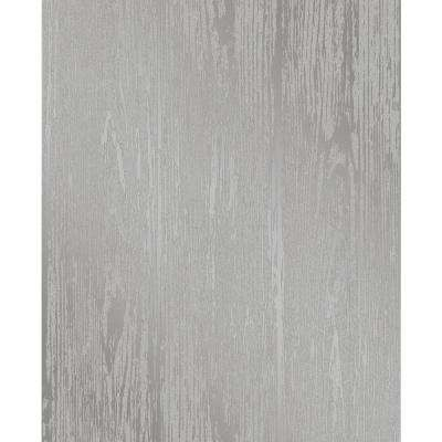 Enchanted Grey Woodgrain Wallpaper Sample