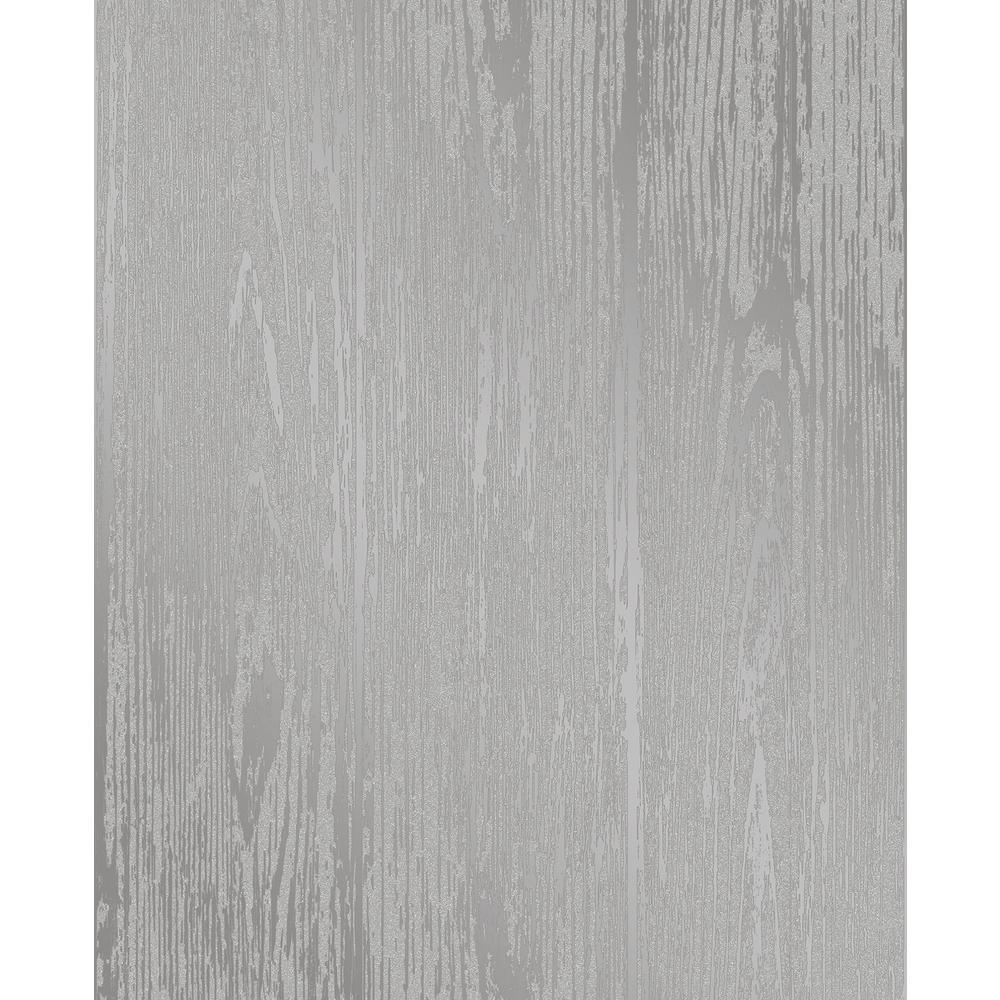 Enchanted Grey Woodgrain Wallpaper Sample