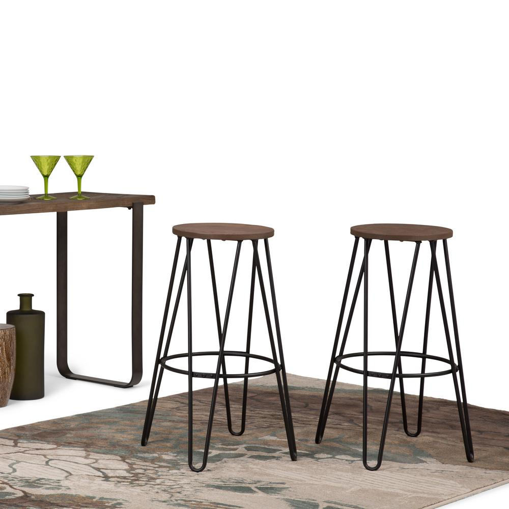 Wondrous Simpli Home Simeon 30 In Black And Cocoa Brown Industrial Gmtry Best Dining Table And Chair Ideas Images Gmtryco
