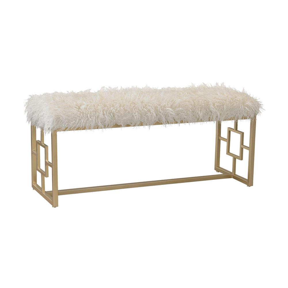 Phenomenal Betty White And Gold Bench Alphanode Cool Chair Designs And Ideas Alphanodeonline