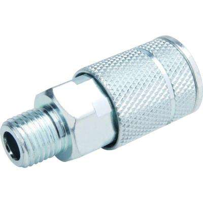 Zinc 4 Ball 1/4 in. x 1/4 in. Female to Male Automotive Coupler