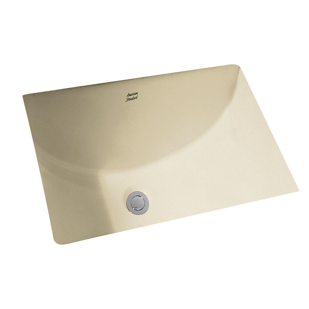 american standard studio rectangular undermount bathroom sink in linen the home depot