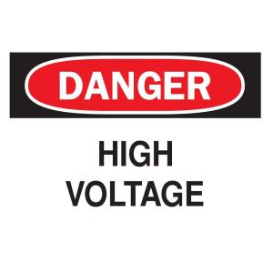 Click here to buy Brady 7 inch x 10 inch Plastic Danger High Voltage OSHA Safety Sign by Brady.
