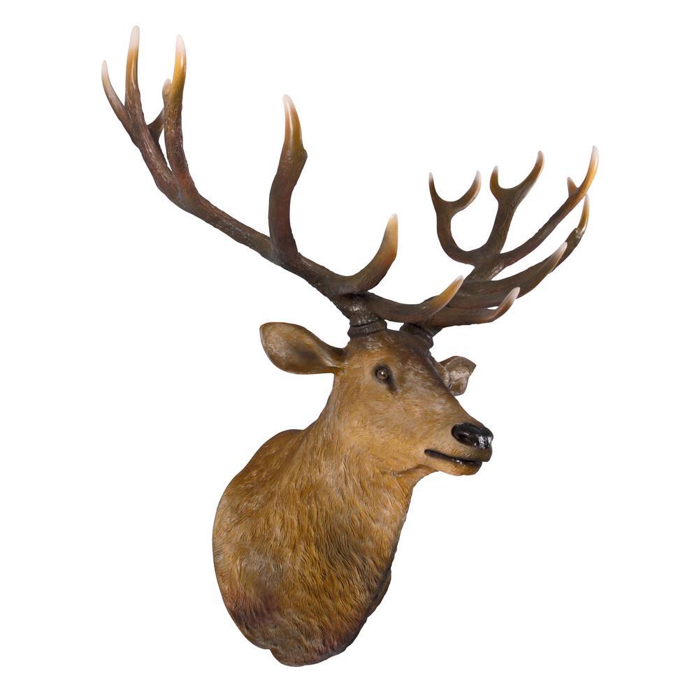 58.5 in. H Big Antler Buck Trophy Deer Head Wall Sculpture
