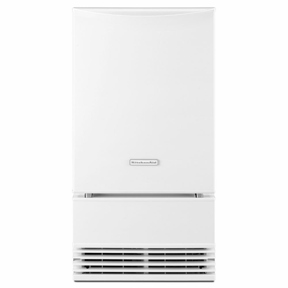 KitchenAid 18 in. 50 lb. Built-In Ice Maker in White
