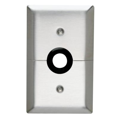Pass & Seymour 302/304 S/S 1 Gang Strap Mounted Coaxial Horizontal Split Wall Plate, Stainless Steel (1-Pack)