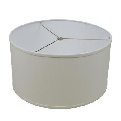 17 in. Top Diameter x 17 in. Bottom Diameter x 9 in. H Linen Cream Drum Lamp Shade