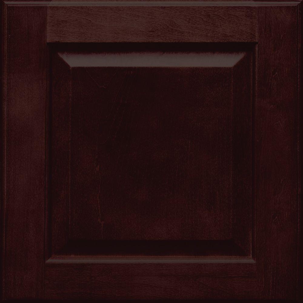 Fox Hill 14 5/8 x 14 5/8 in. Cabinet Door Sample in Peppercorn