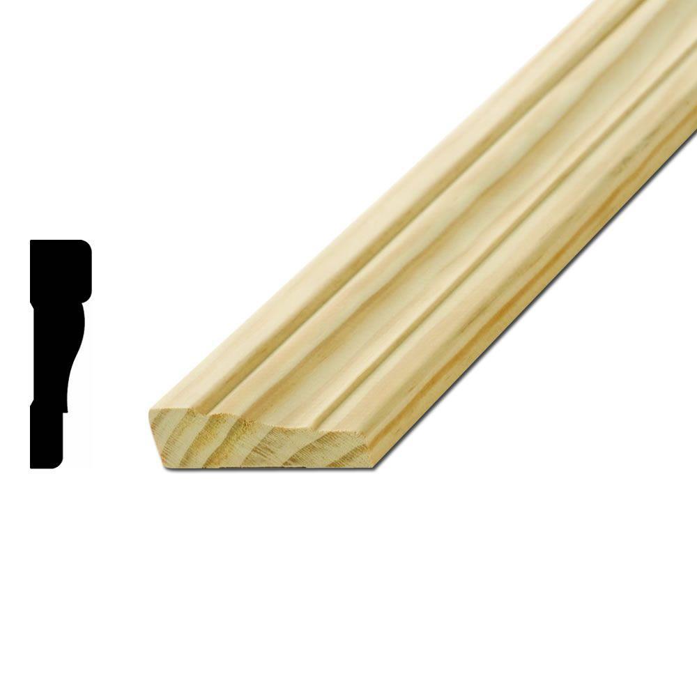 American Wood Moulding WM351 11/16 in. x 2-1/2 in. Pine Casing ...