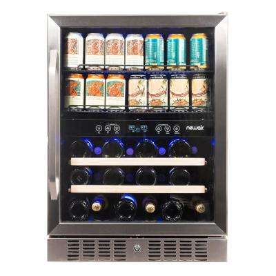 22.5 in. 20 Bottle and 70 Can Dual Zone Built-In Compressor Wine and Beverage Cooler