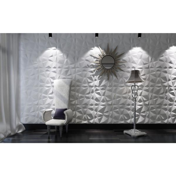 Art3d 19 7 In X 19 7 In White Decorative Pvc 3d Wall Panels In Diamond Design 12 Pack A10038 The Home Depot