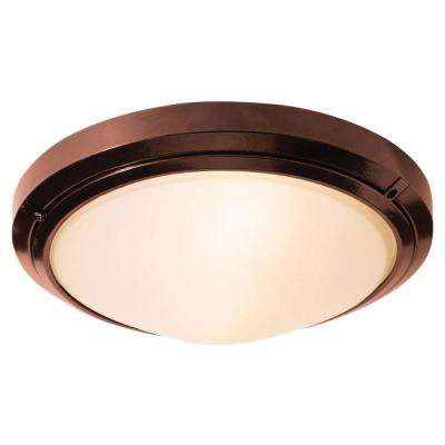 Oceanus 1-Light Bronze Outdoor LED Sconce