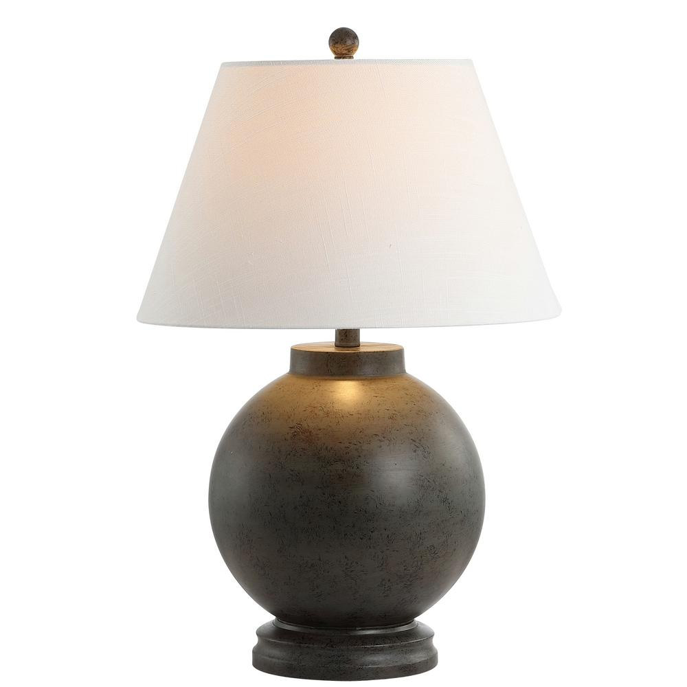 Jonathan Y Sophie 26 In Dark Gray Resin Led Table Lamp Jyl3040a