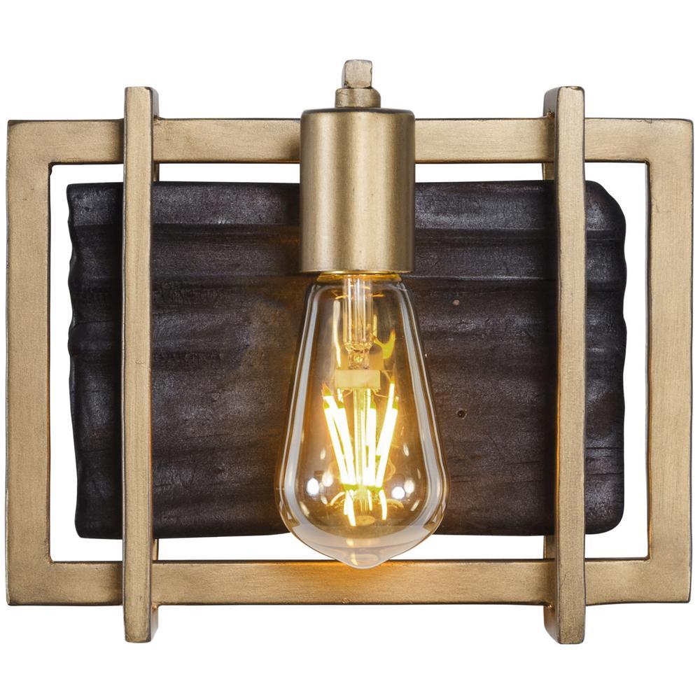 Varaluz Madeira 1-Light Rustic Gold Bath Light-294B01RG - The Home Depot