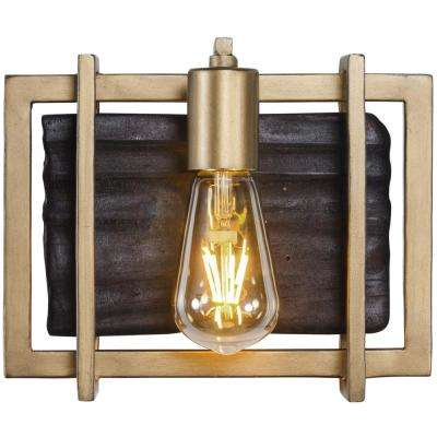 Madeira 1-Light Rustic Gold Bath Light