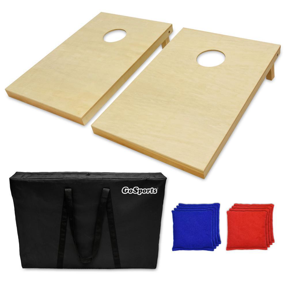 3 ft. x 2 ft. Tailgate Size Solid Wood Premium Cornhole Set