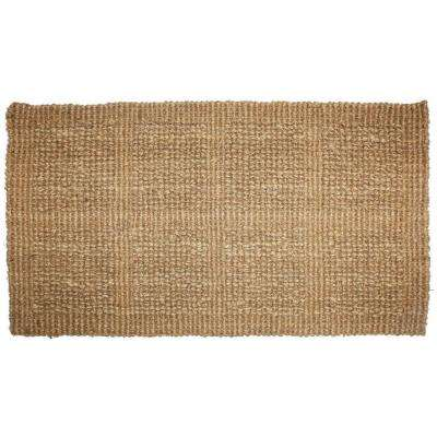 Plain Tile Loop 18 in. x 30 in. Woven Coco Door Mat