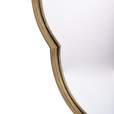 Medium Ornate Gold Classic Accent Mirror (37 in. H x 21 in. W)
