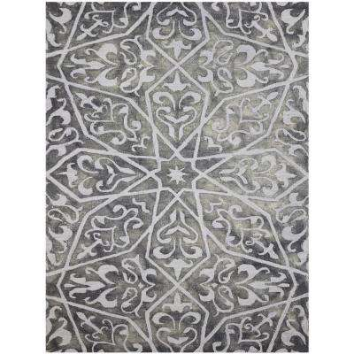 Shiloh Charcoal 2 ft. x 3 ft. Rectangle Area Rug