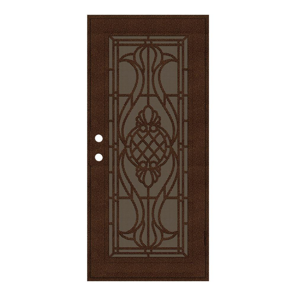 unique home designs 30 in x 80 in manchester copperclad right hand surface mount security door. Black Bedroom Furniture Sets. Home Design Ideas