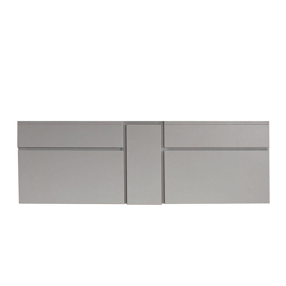 Avanity Tribeca 60 In. Vanity Cabinet Only In Chilled Gray