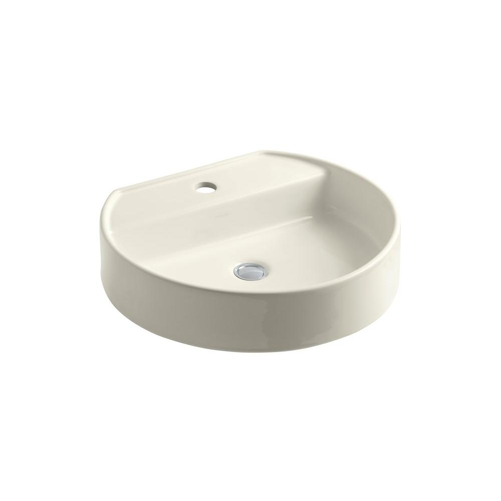 KOHLER Chord Vitreous China Vessel Sink in Biscuit