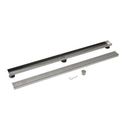 Designline 48 in. Stainless Steel Linear Drain Square Grate