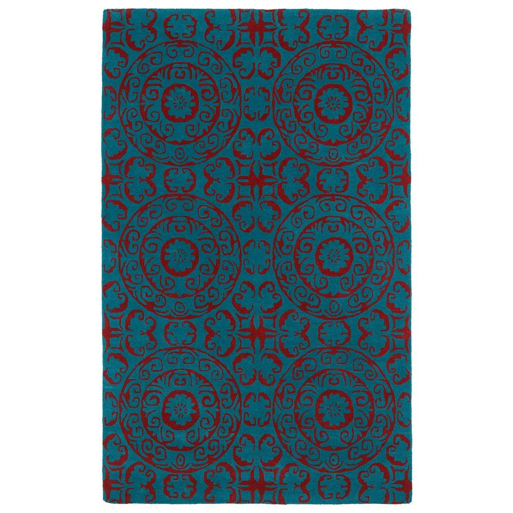 Evolution Peacock 9 ft. 6 in. x 13 ft. Area Rug