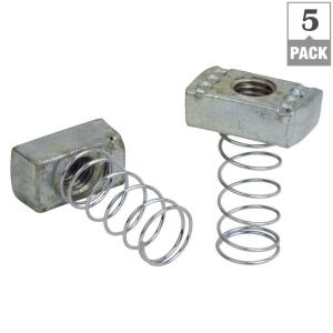 1/2 in. Strut Channel Spring Nuts (5-Pack)