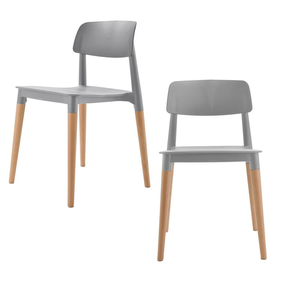 Cozyblock Bel Series Gray Modern Accent Dining Side Chair