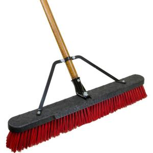 Quickie Job Site 24 Inch Stiff Poly Push Broom (2-Pack) by Quickie