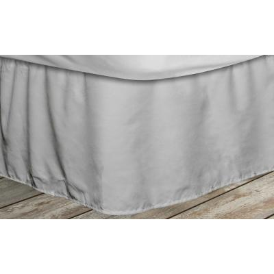 Frita 15 in. Grey Striped Twin Bed Skirt