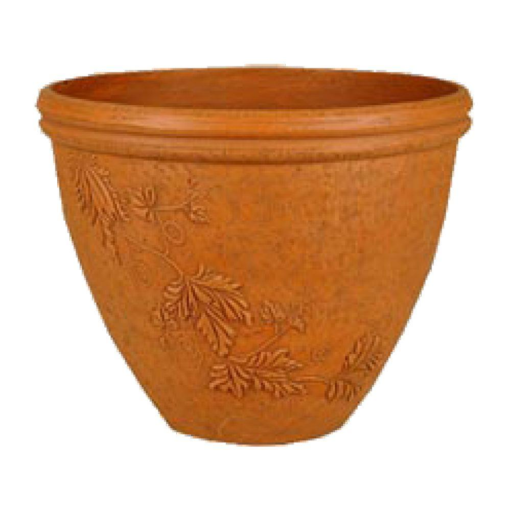 Vine 15 in. x 12 in. Terra Cotta PSW Pot