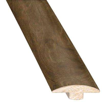 Ashen Gray 5/8 in. Thick x 2 in. Wide x 78 in. Length Hardwood T-Molding