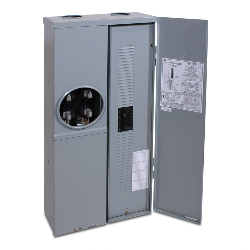 GE 200 Amp 4-Space 8-Circuit Outdoor Combination Main Breaker ...