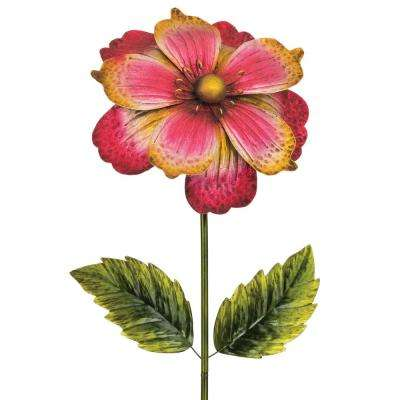 65 in. Giant Flower Stake - Pink/Gold