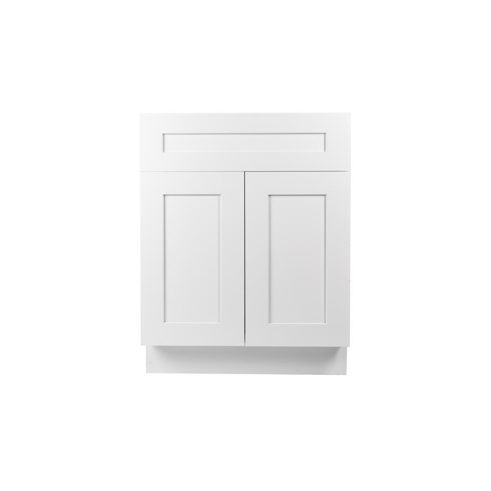 778c63f3c95 Internet  302299219. Plywell Ready to Assemble 24x34.5x24 in. Shaker Base  Cabinet with 2-Door