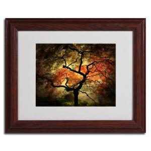 11 In X 14 In Japanese Dark Wooden Framed Matted Art Psl020
